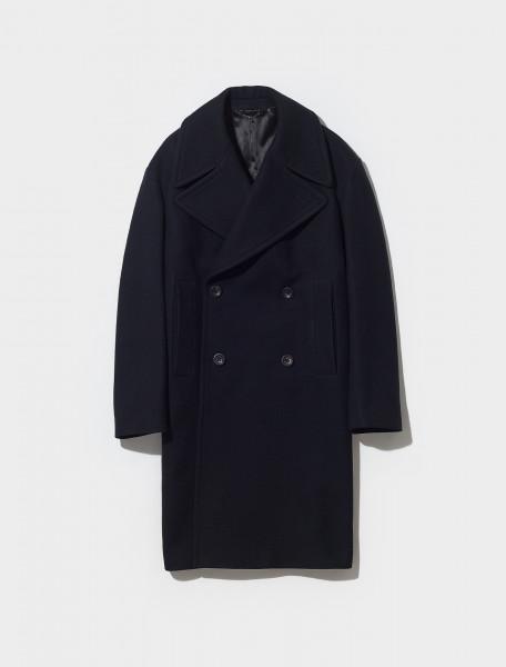 212 020206 3354 900 DRIES VAN NOTEN RARSON DOUBLE BREASTED COAT IN BLACK