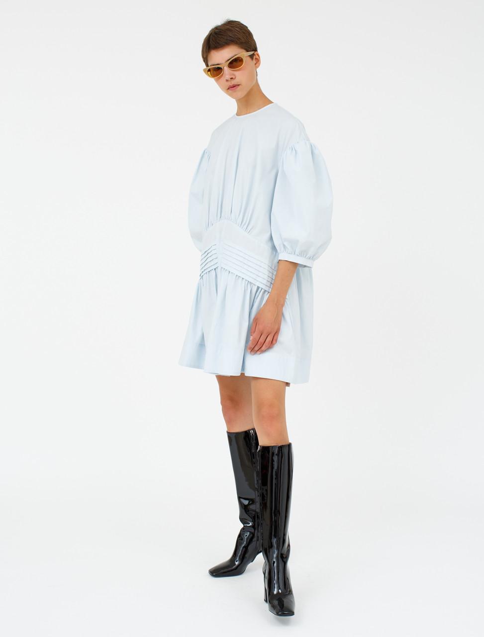 Pin Tuck Smock Dress