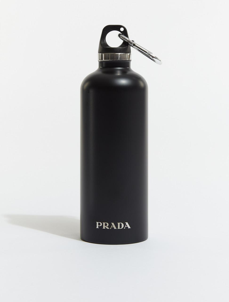 2UH003-F0002 PRADA STAINLESS STEEL WATER BOTTLE BLACK