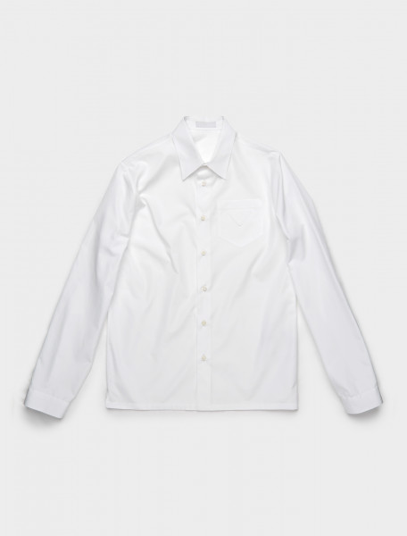 SC541-F0009 PRADA COTTON SHIRT WHITE