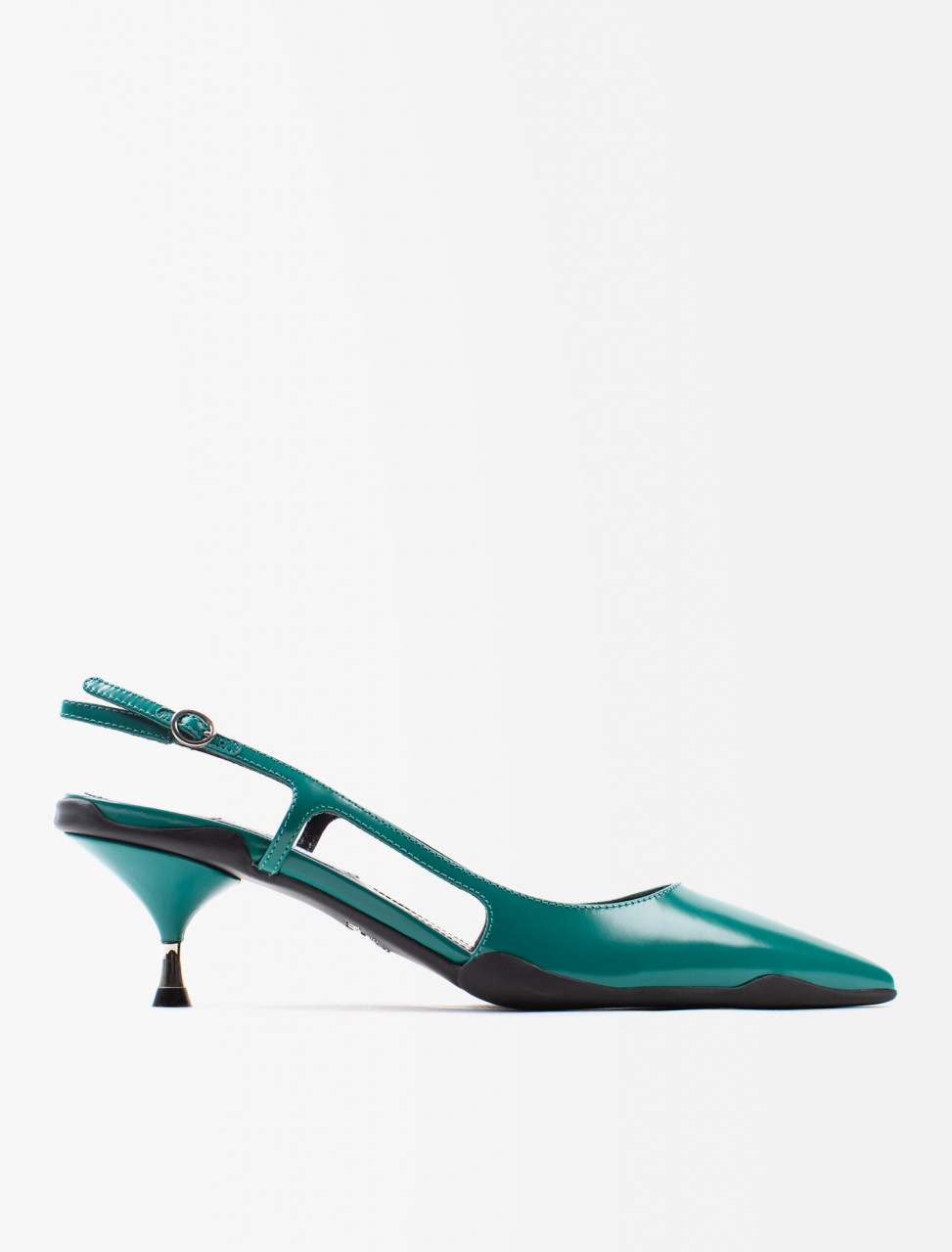 Spazzolato Leather Slingback Shoe