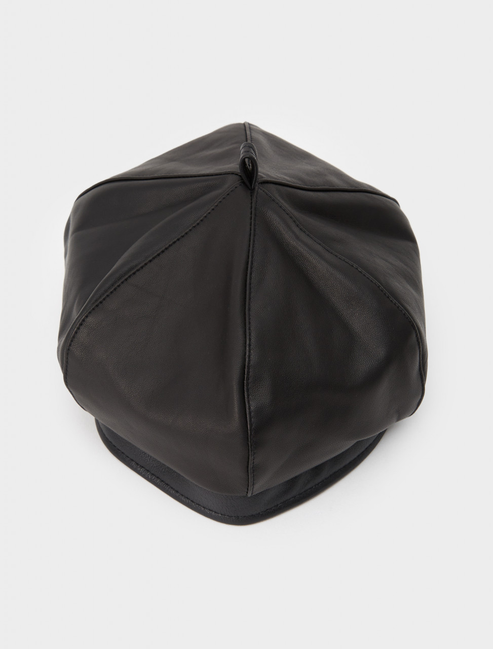 150-A4208BBL OUR LEGACY BERET BLACK LEATHER