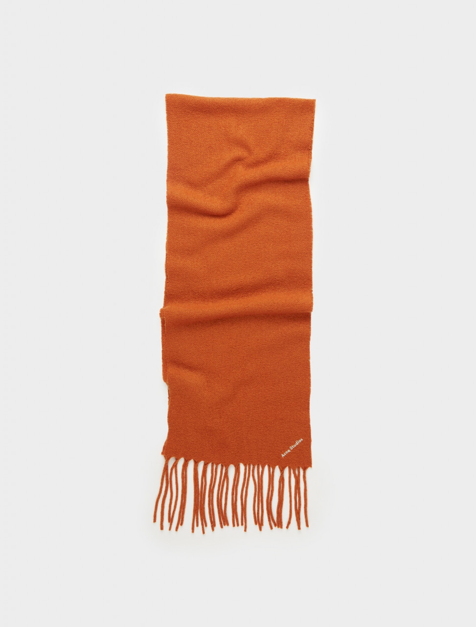 110-CA0025-ABZ0 ACNE STUDIOS BOILED WOOL-BLEND SCARF BRICK ORANGE