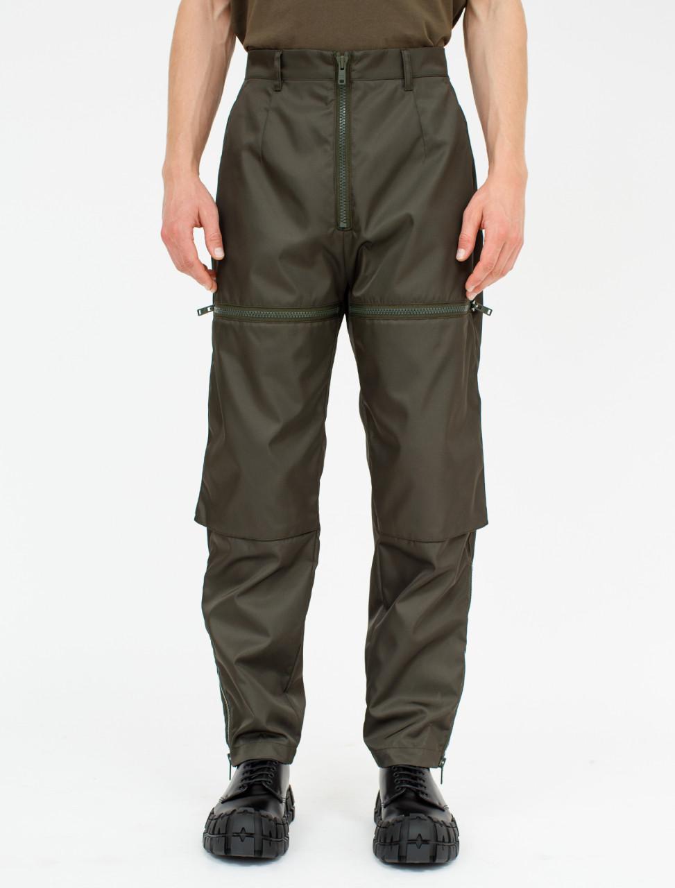 Nylon Gabardine Trouser with Front Pockets