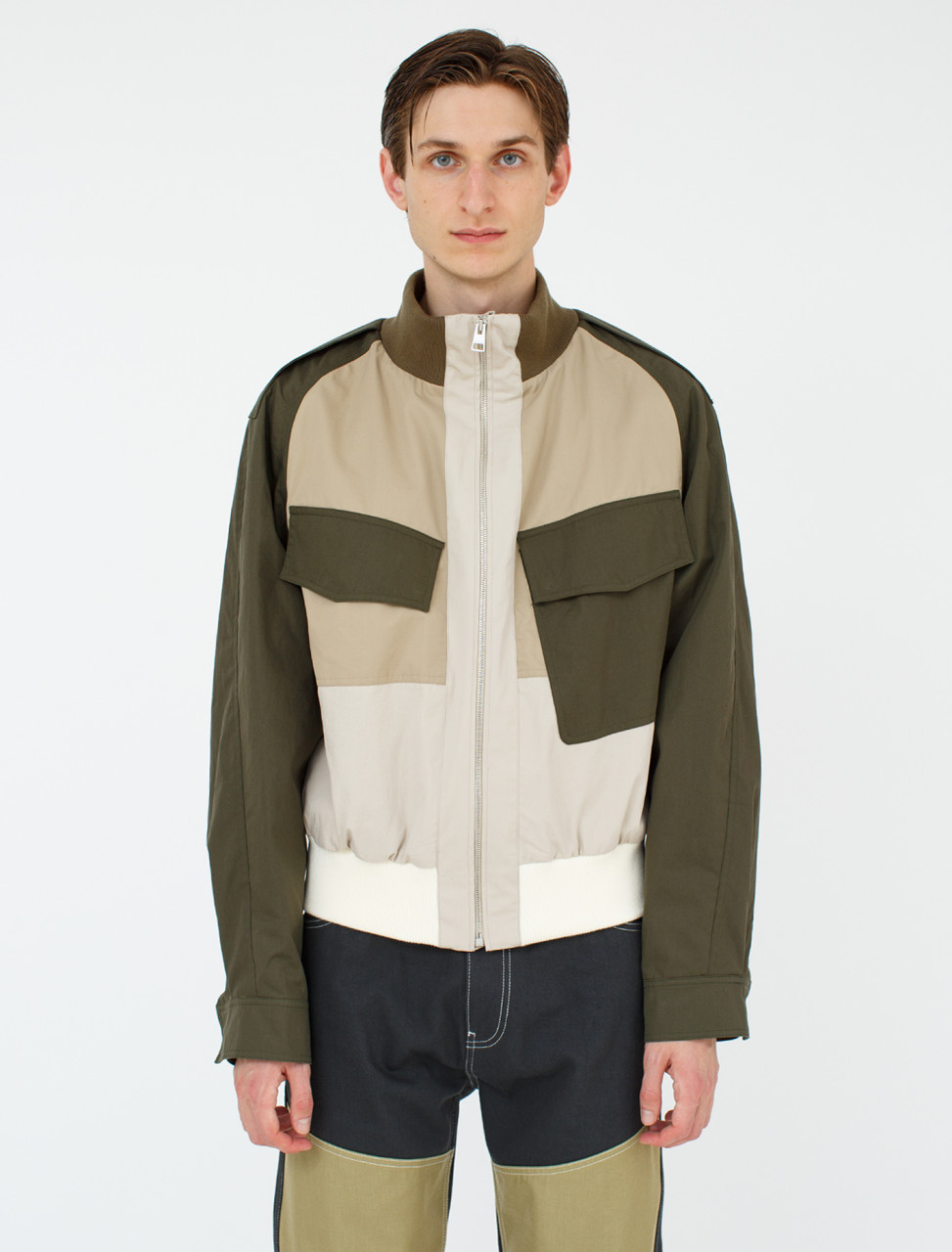 Asymmetric Bomber Jacket