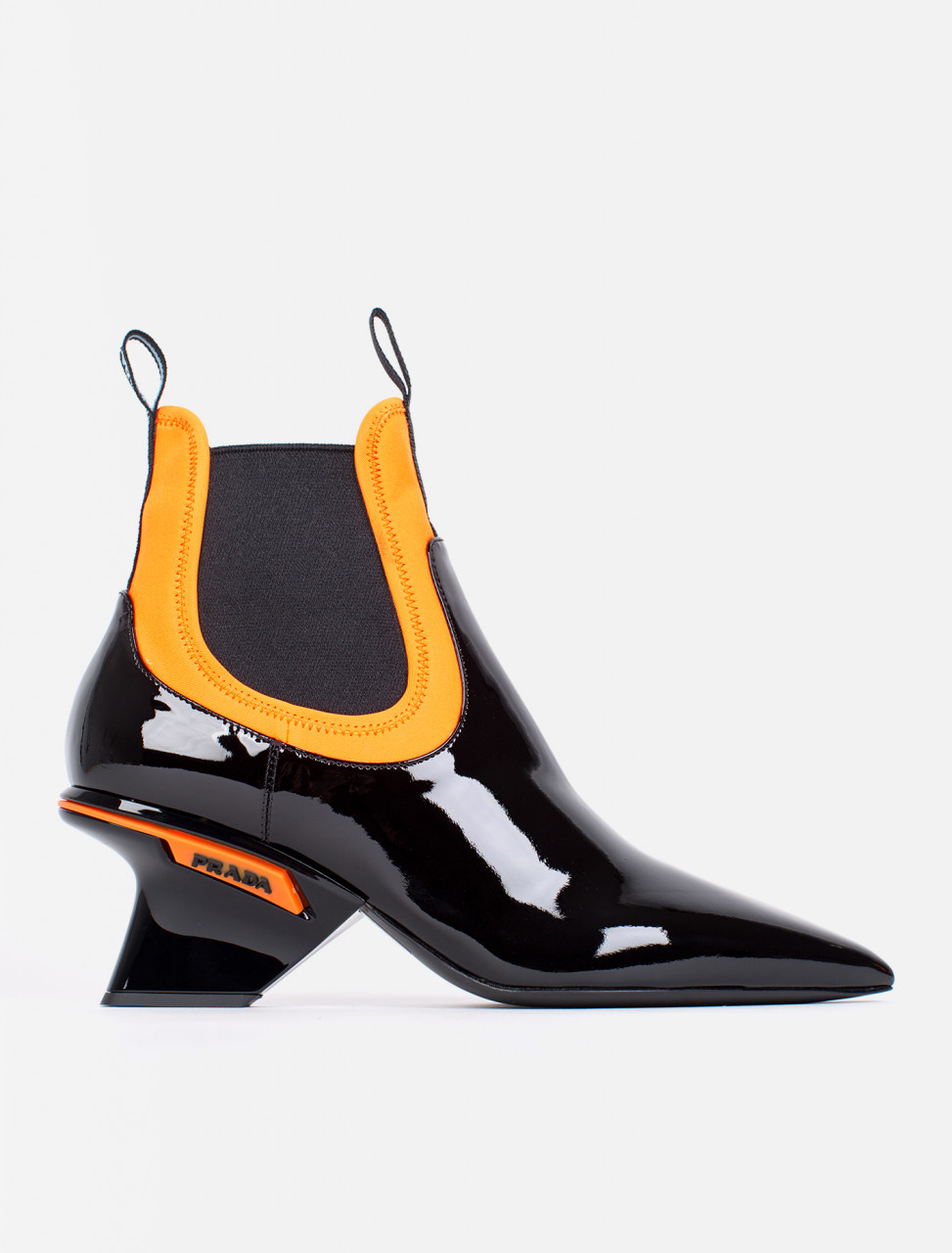 Patent Leather Neoprene Boots