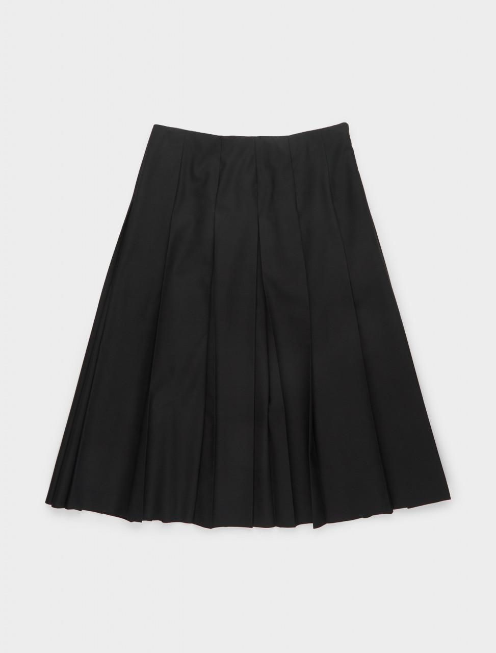 130-JSER350400-WR450202-401 JIL SANDER Essential Skirt in Dark Blue