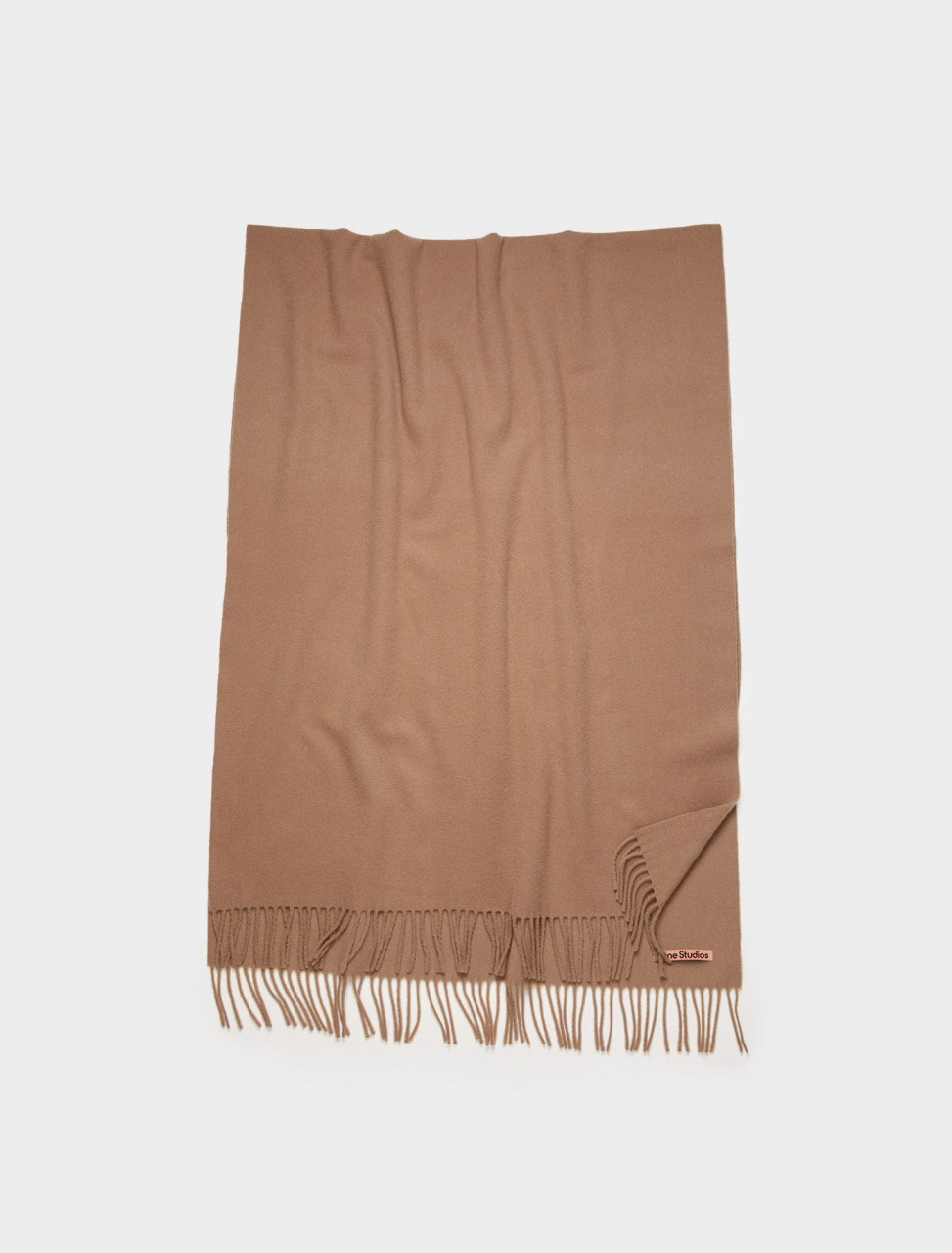 110-CA0102-59C ACNE STUDIOS OVERSIZED WOOL SCARF CARAMEL BROWN