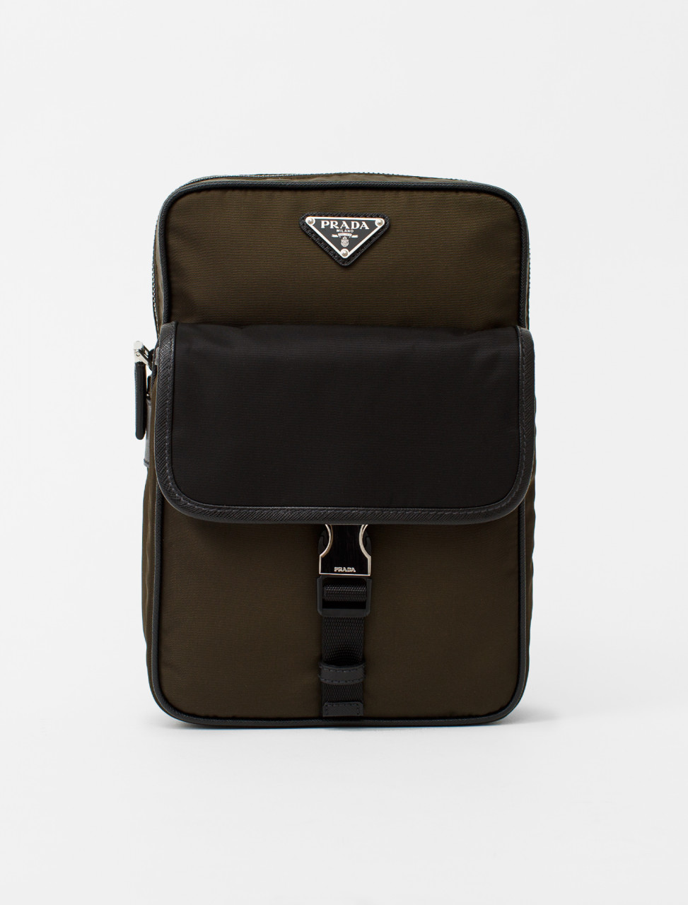 Nylon Backpack in Mimetico and Black