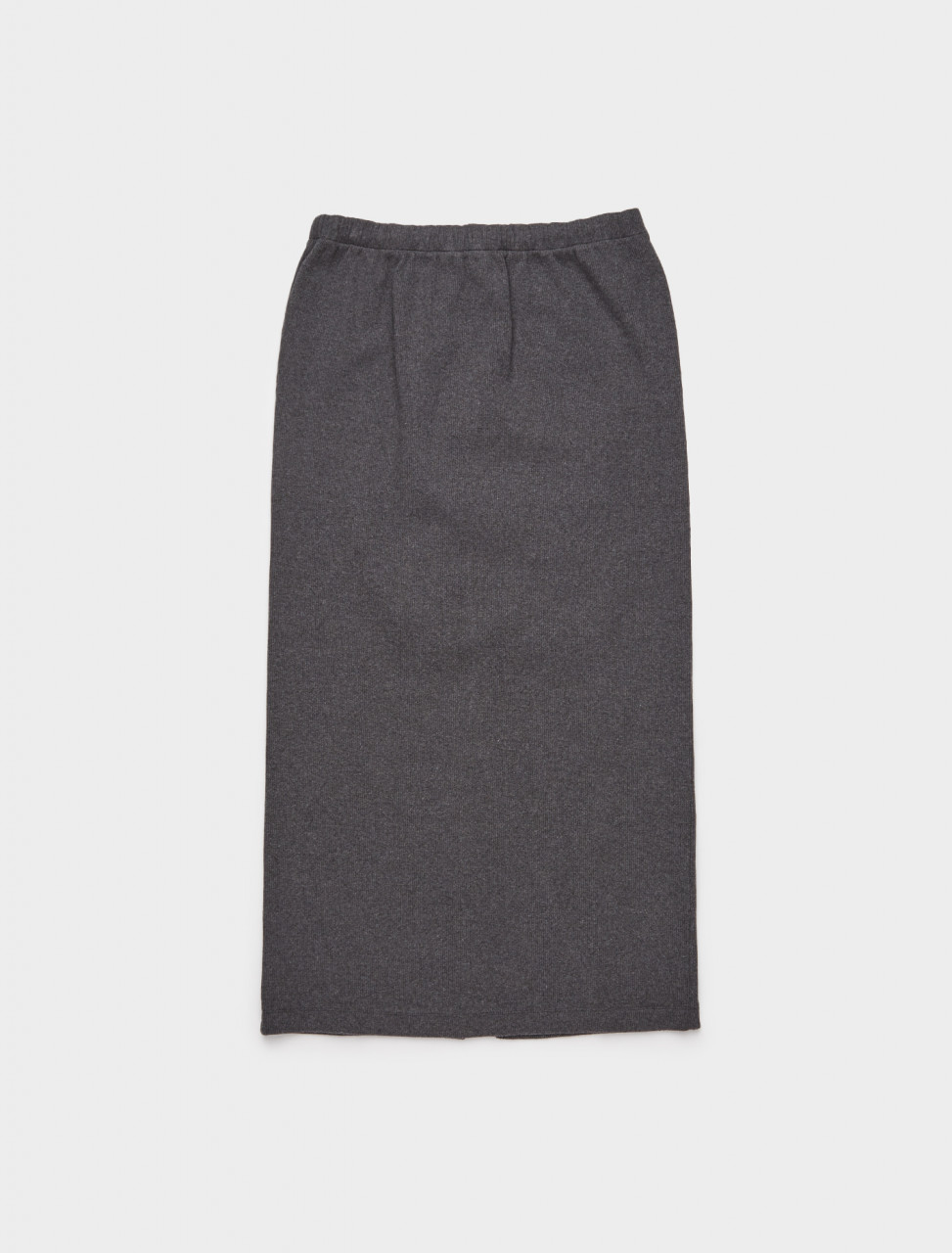 150-W4206RD OUR LEGACY RIB TUBE SKIRT GREY MELANGE RIB