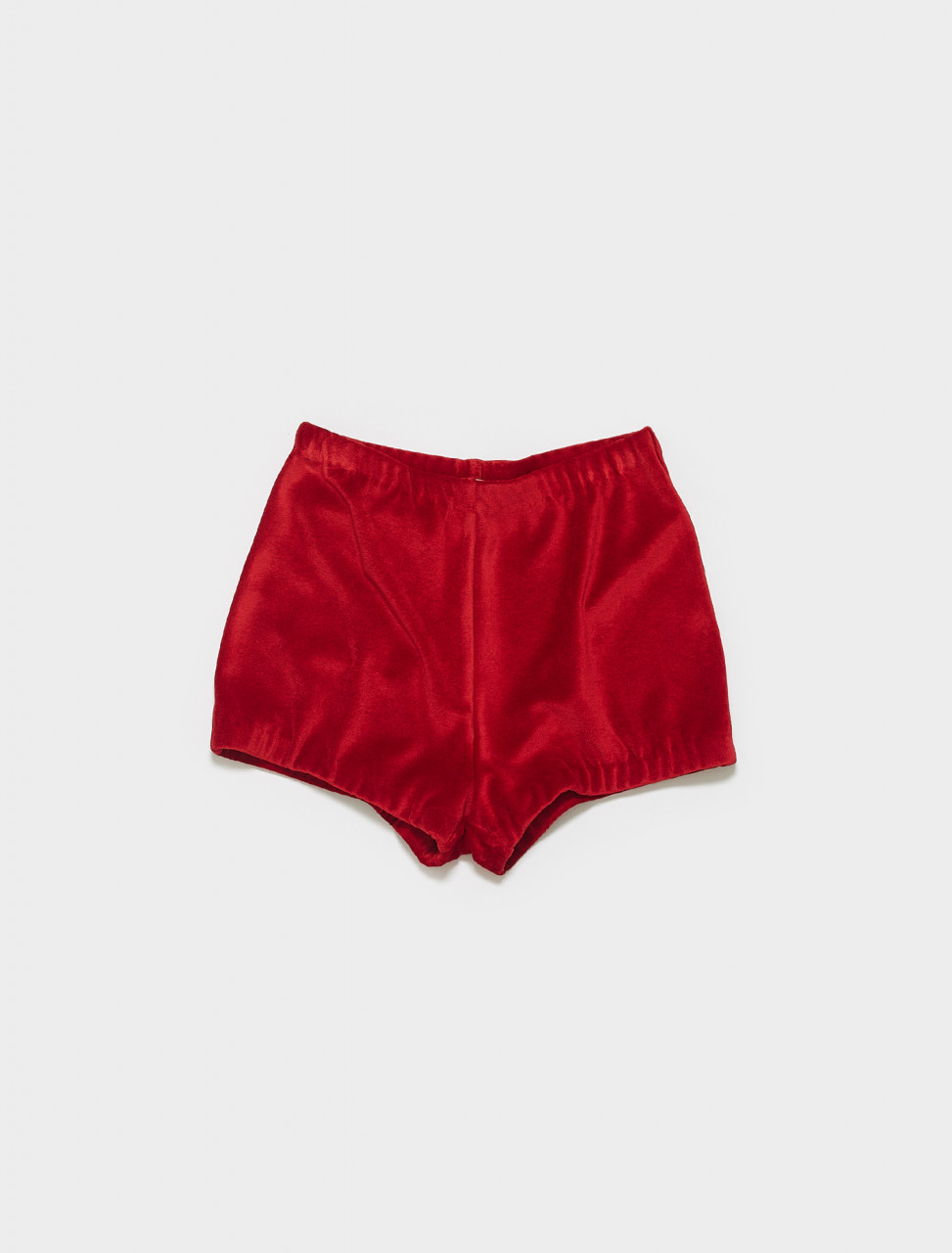 MP1454-F0011 MIU MIU CHENILLE SHORTS IN RED