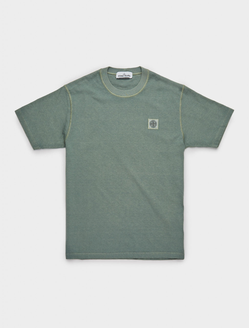 241-MO731523742-V0155 STONE ISLAND LOGO PATCH T-SHIRT IN GREEN