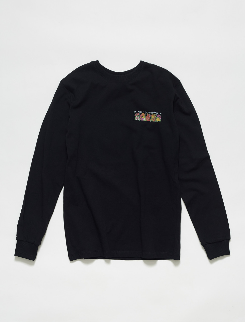 159-1001-B SOULLAND BODEGA ROSE BOAS LS T SHIRT BLACK