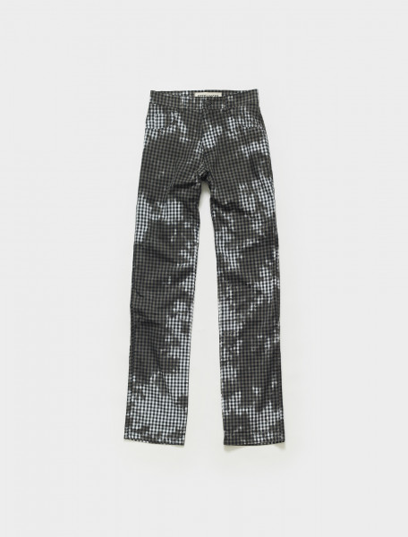SS21PA05GB OTTOLINGER THY PANTS GINGHAM IN BLACK