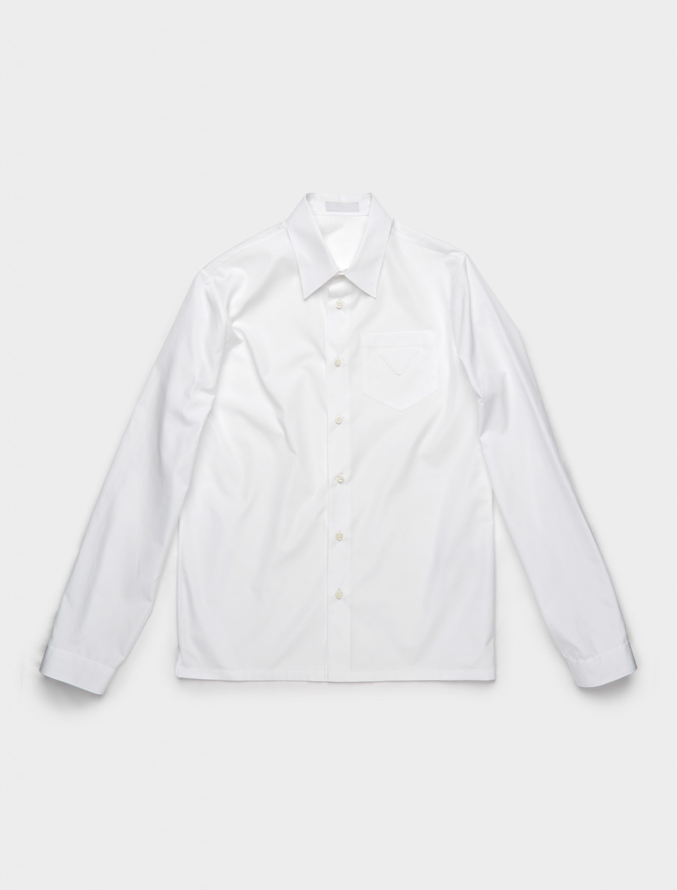 SC541-F0009 PRADA COTTON SHIRT WHITE