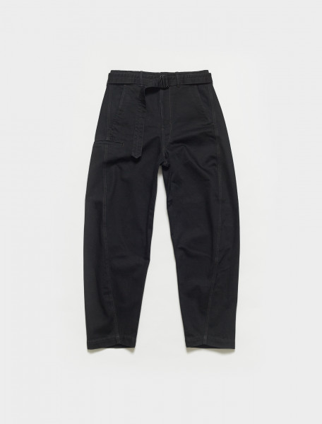 M-211-PA137-LD049-999 LEMAIRE TWISTED PANTS IN BLACK