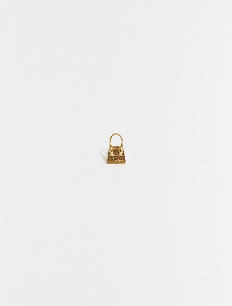 215JW01-215-550200 JACQUEMUS LE CHIQUITO EARRING RAW GOLD