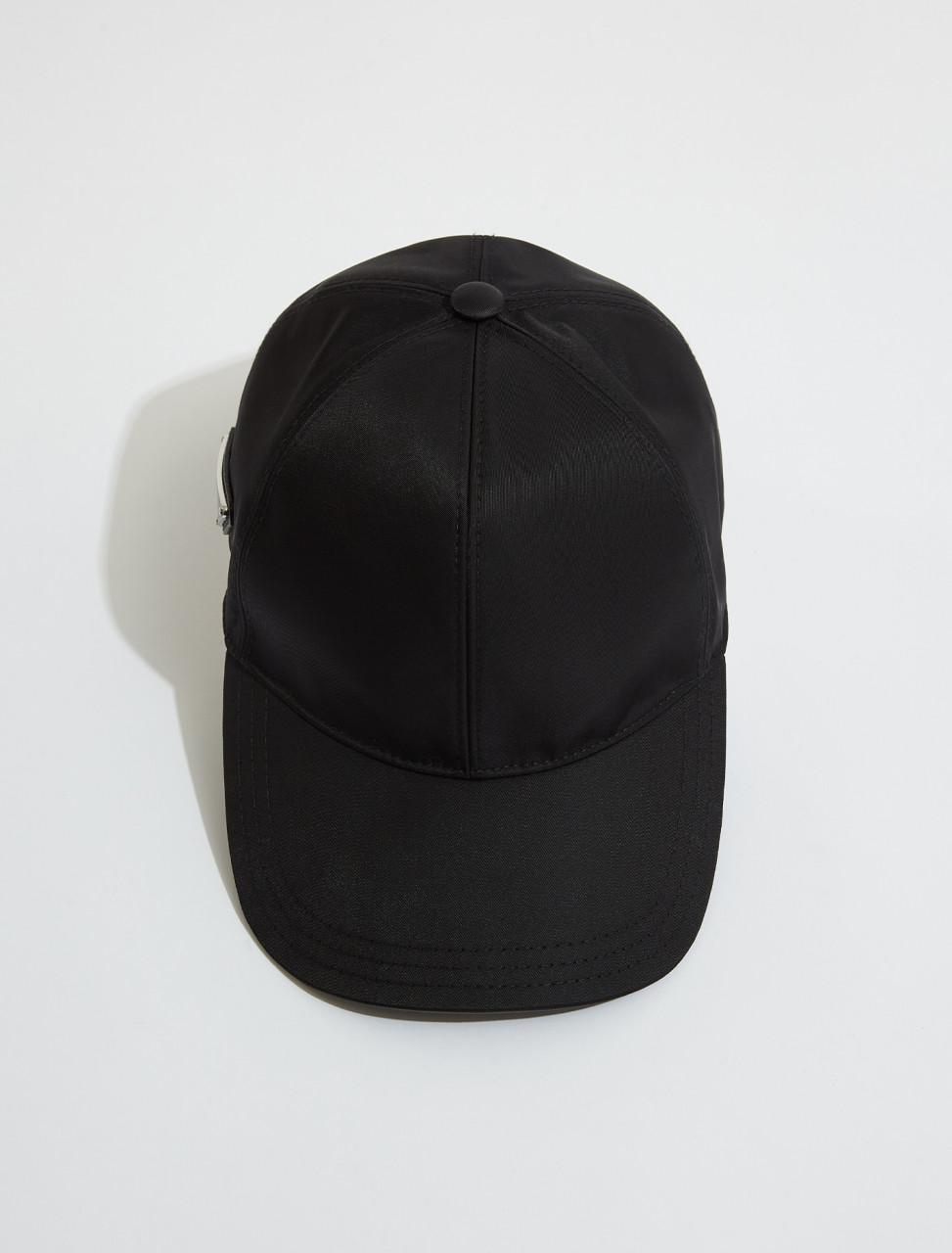 2HC274_2DMI_F0002 PRADA RE NYLON BASEBALL CAP IN BLACK