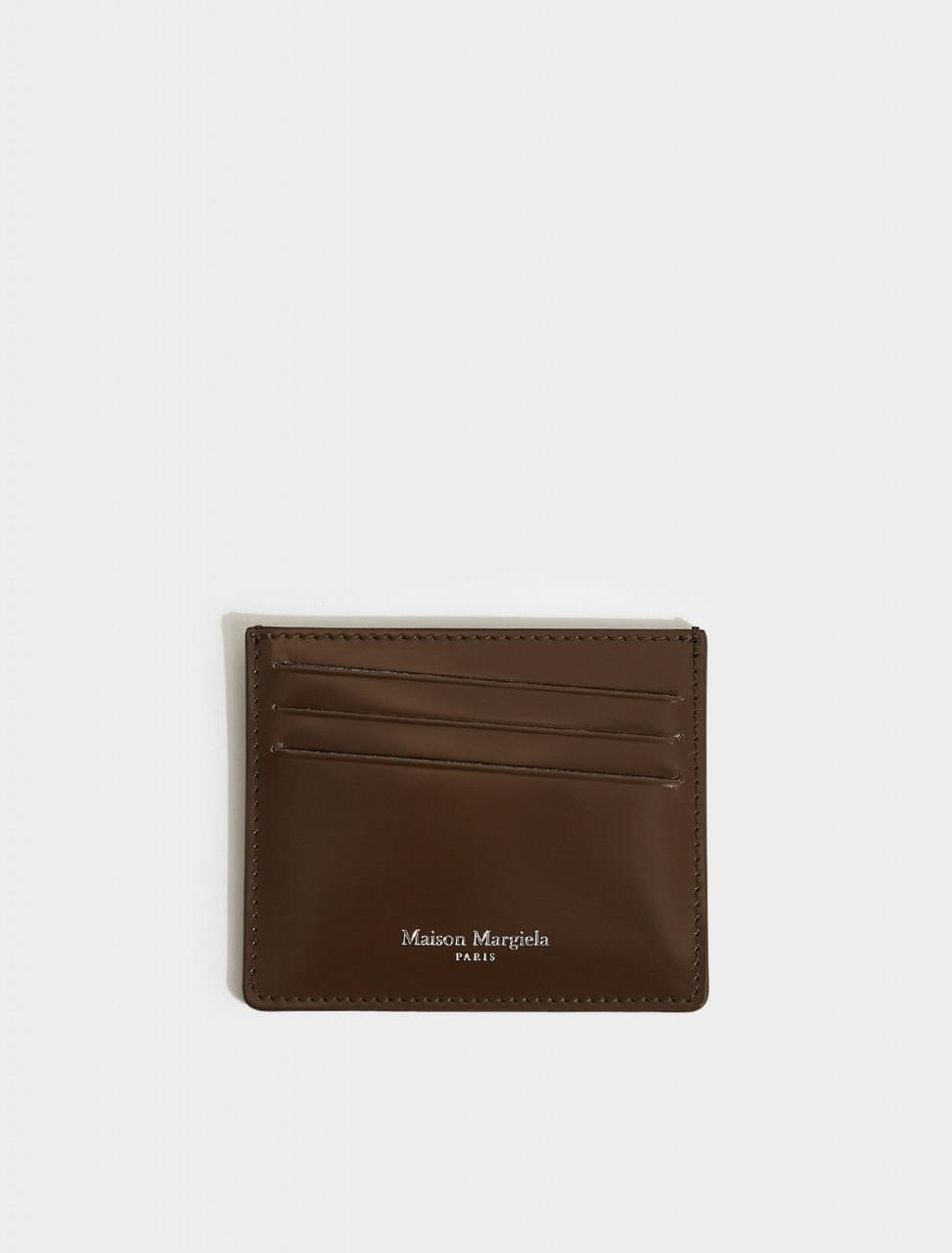 S35UI0432-T2149 MAISON MARGIELA CARD HOLDER IN BROWN