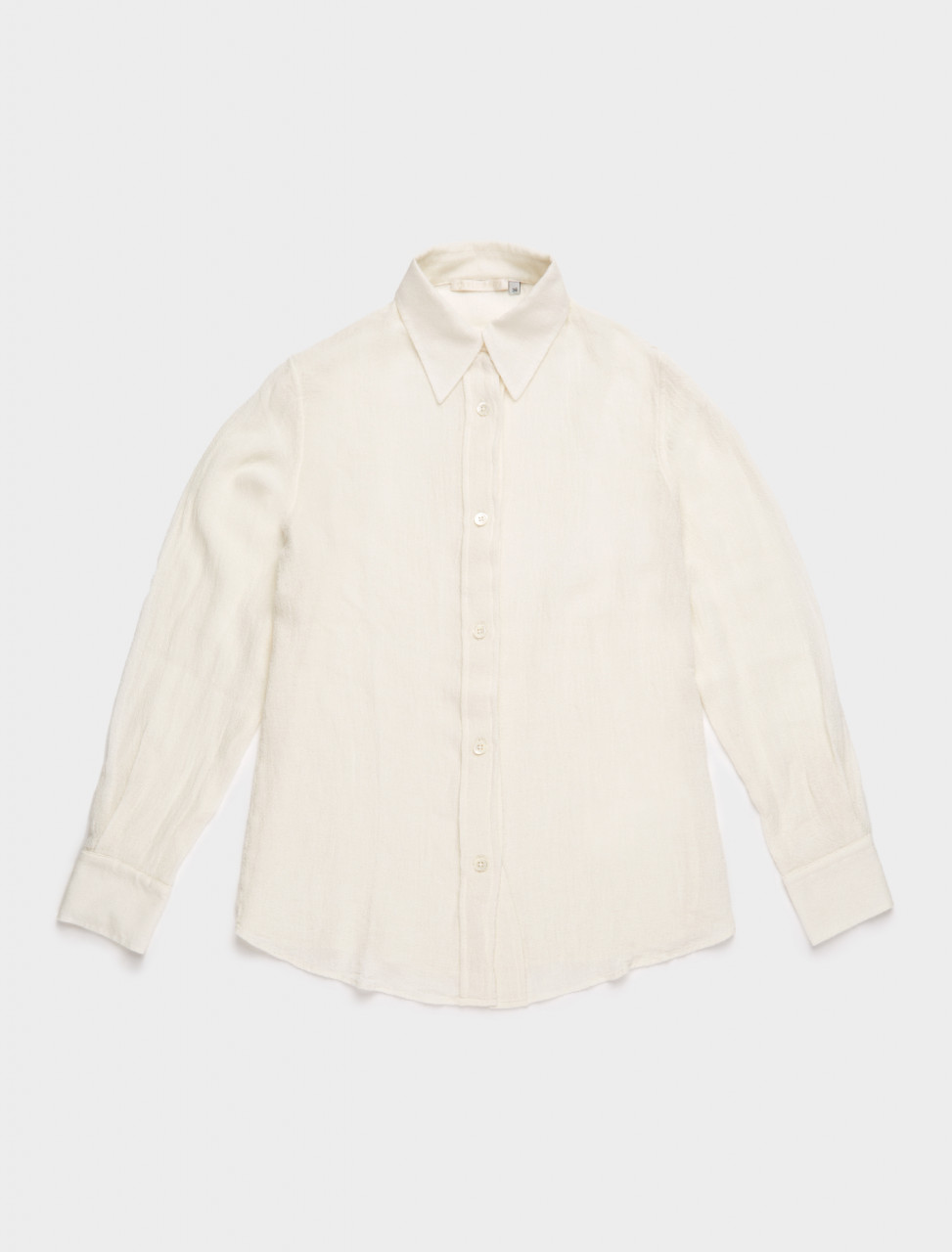 150-W42027LW OUR LEGACY 70S LINE SHIRT WHITE RAW VISCOSE