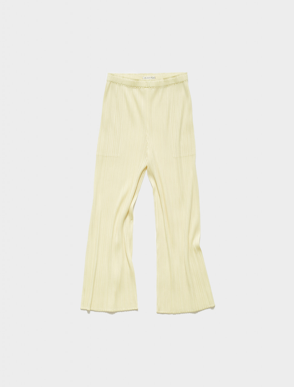 PP16JF205-50 PLEATS PLEASE ISSEY MIYAKE PLEATED TROUSERS IN BABY YELLOW