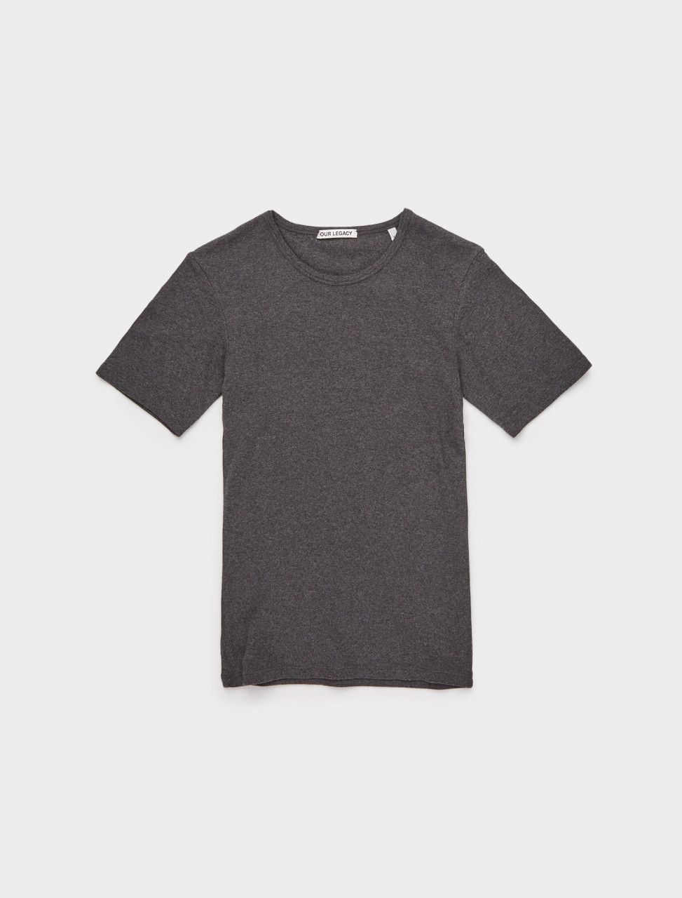 150-W4206SDG OUR LEGACY SLIM JERSEY SHORTSLEEVE GREY MELANGE
