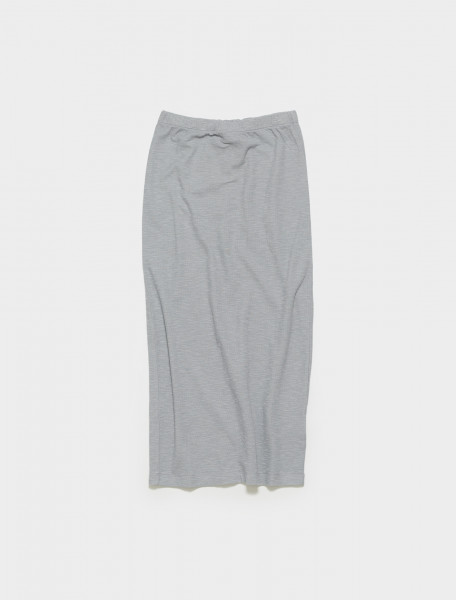 W2216RS OUR LEGACY RIB TUBE SKIRT IN SULPHUR BLUE LAYER JERSEY