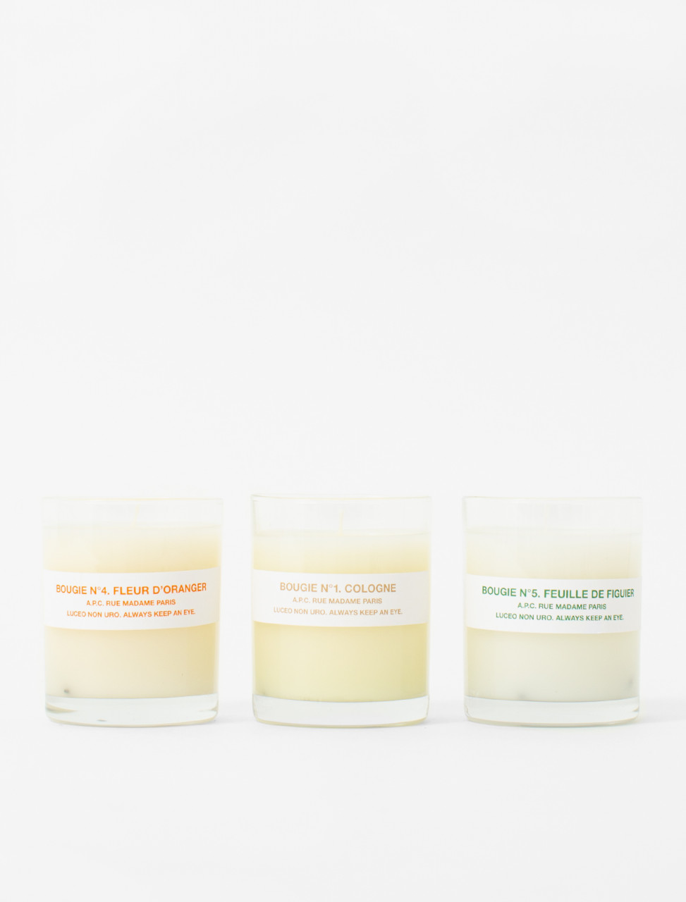 Bougie Parfumée 3 Pack No. 1, 4, 5