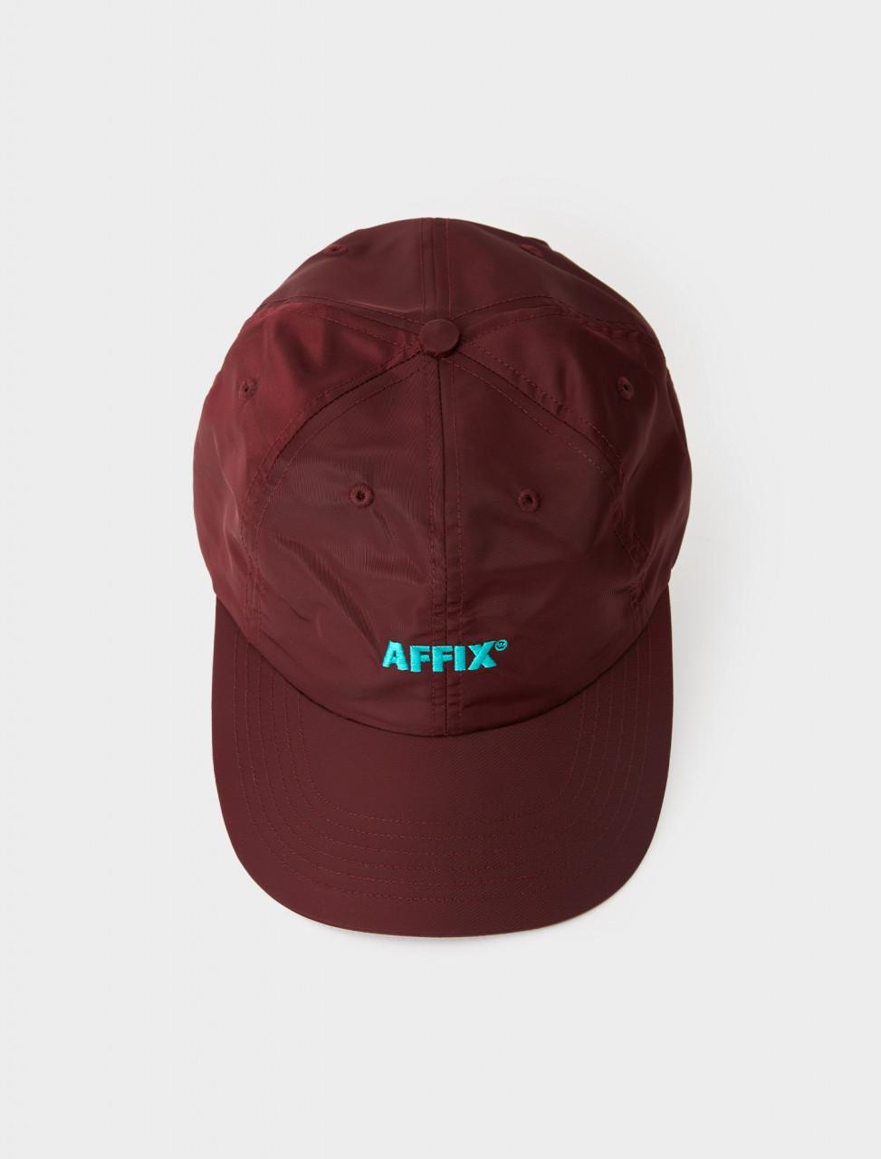 347-AW20ACC04-DR AFFIX NYLON STANDARD LOGO CAP DEEP RED