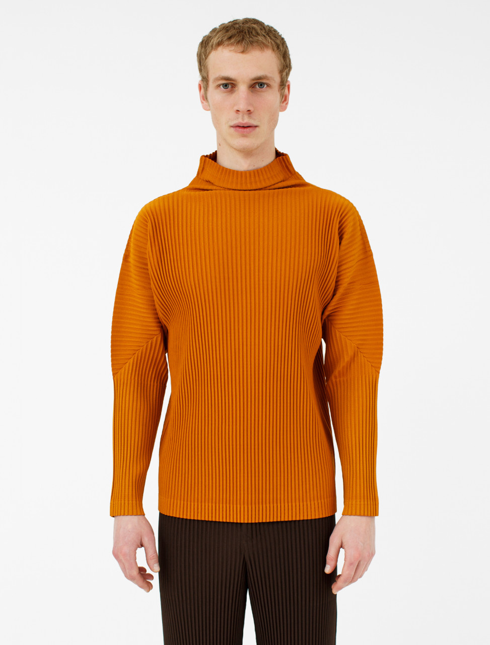 Pleated Highneck T-Shirt
