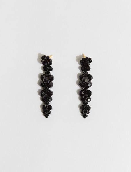 ERG260-0903-JE SIMONE ROCHA CLUSTER DRIP EARRING IN BLACK