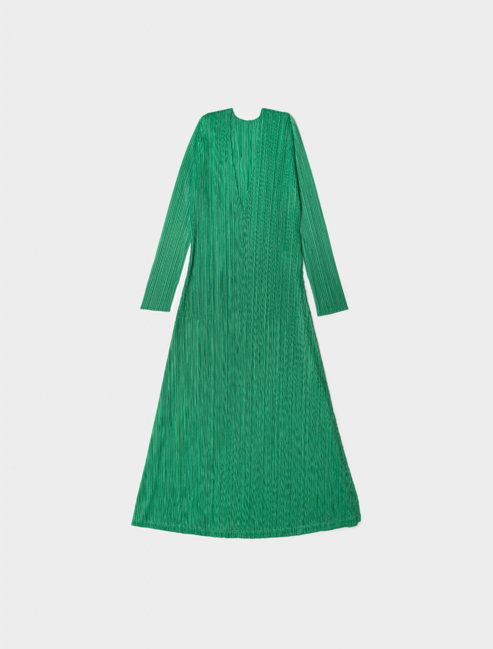 V-Neck Pleated Dress in Green