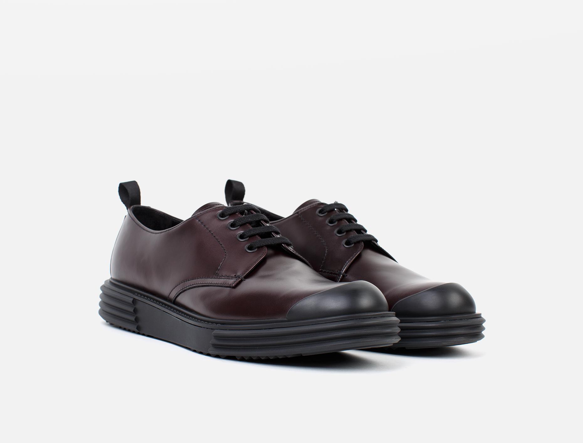 Prada Calfskin Platform Shoe