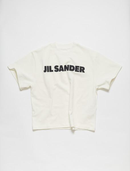 JSPS707050-WS248708-102 JIL SANDER SHORT SLEEVED LOGO T SHIRT IN NATURAL