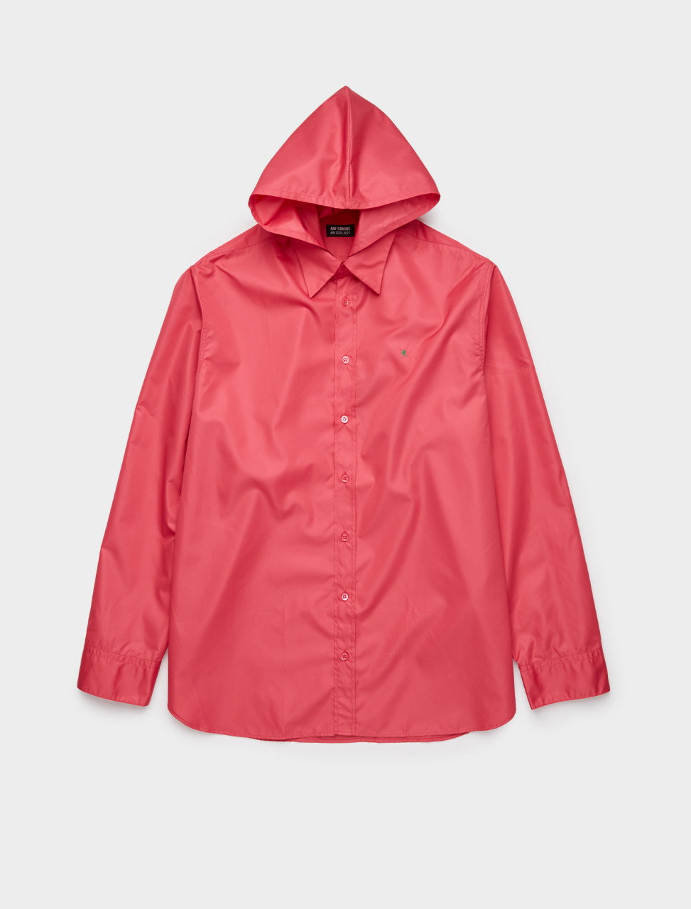 162-202-282-30002-00031 RAF SIMONS STRAIGHT FIT R SHIRT W HOOD PINK