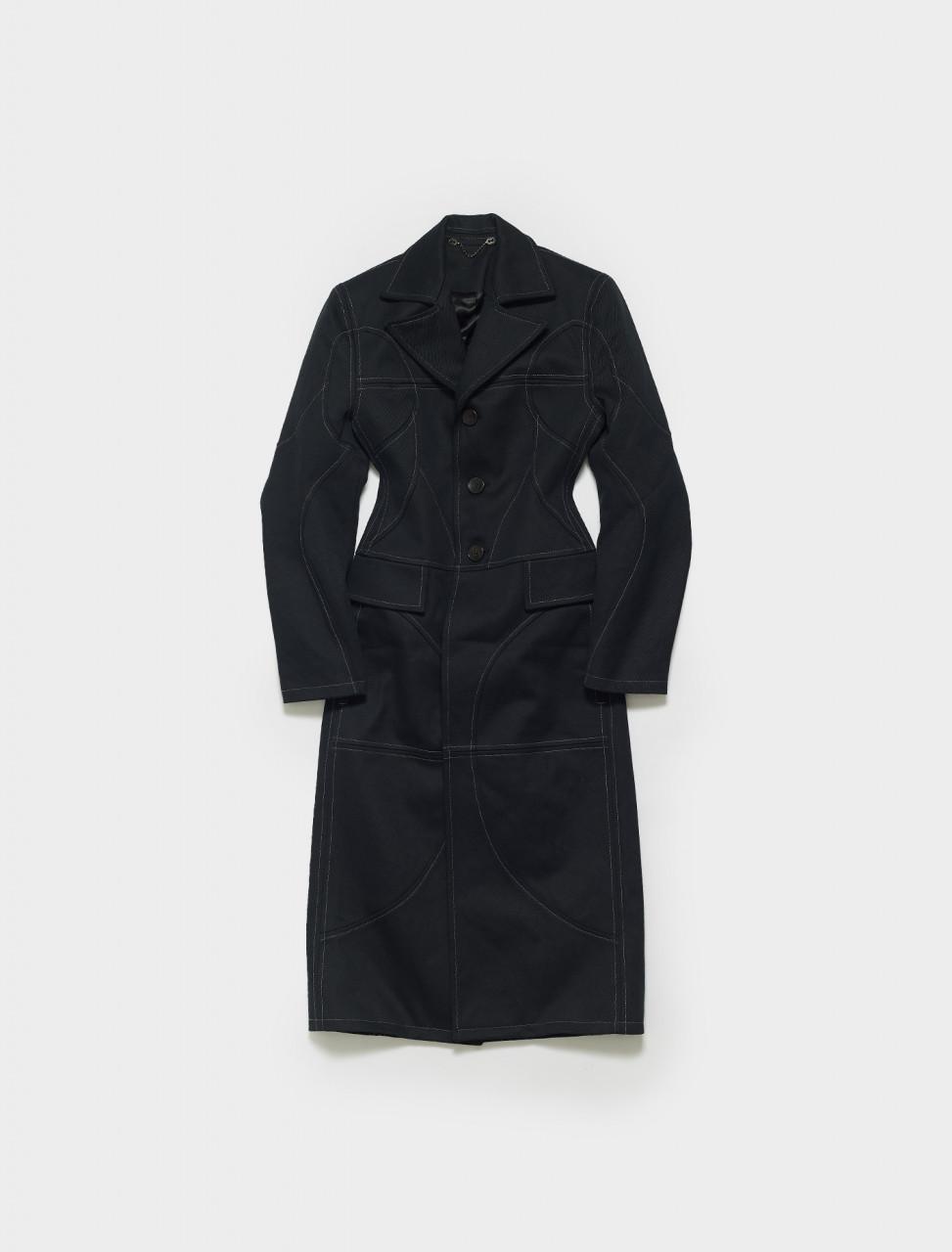 AISHA_W-BLACK GMBH AISHA STRUCTURED COAT BLACK