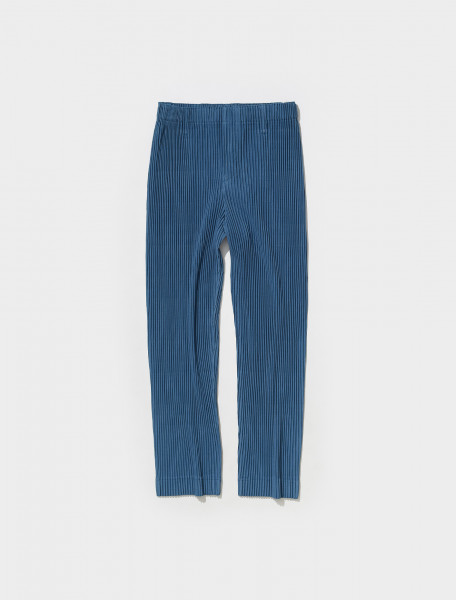HP18JF174 72 HOMME PLISSÉ PLEATED TROUSERS IN BLUE GREY