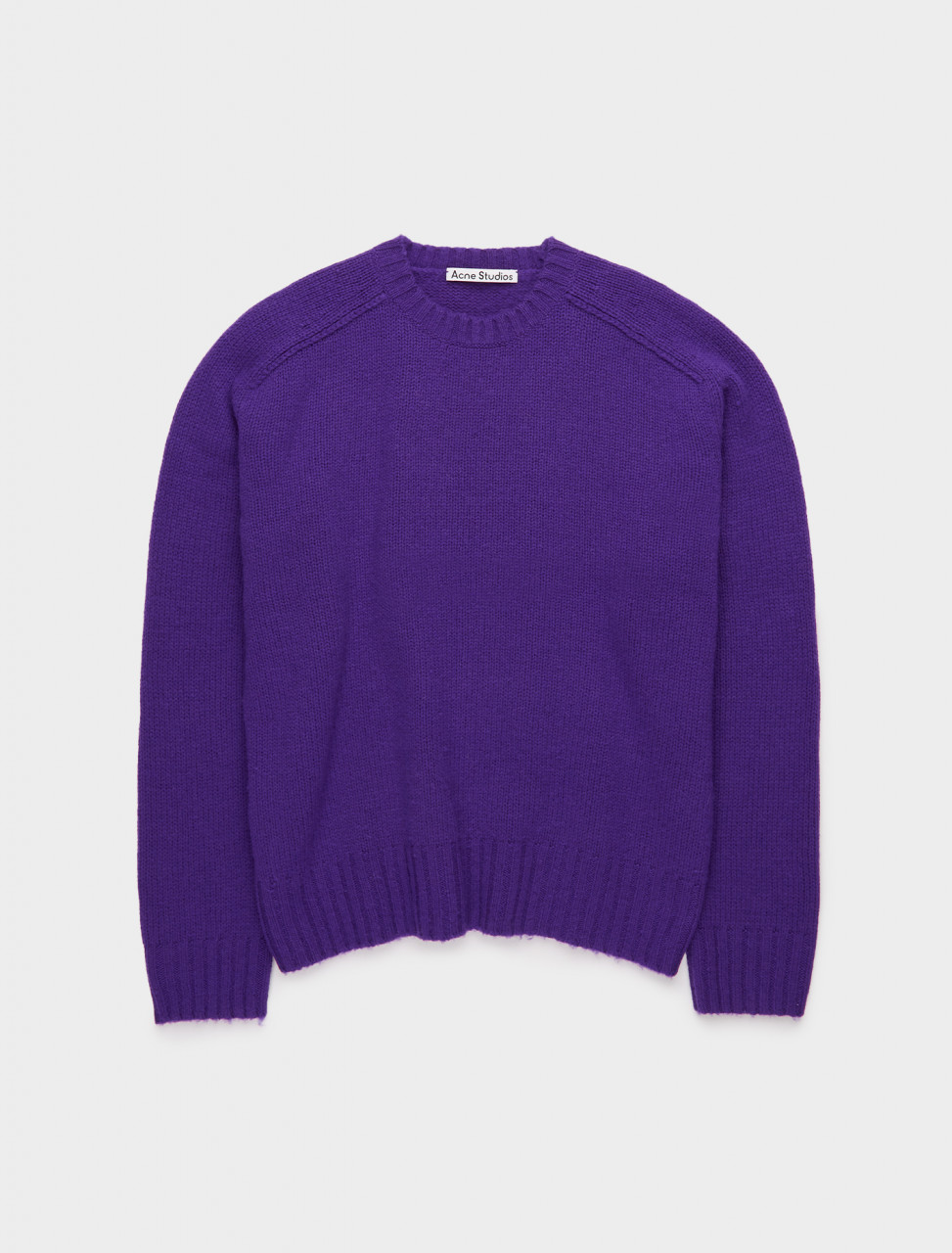 110-A60192-BMZ ACNE STUDIOS SHETLAND WOOL SWEATER IN ELECTRIC PURPLE