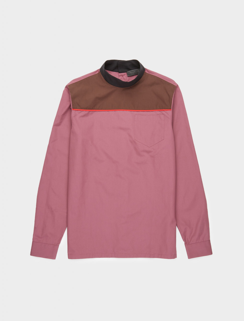242-UCN319-1XV2-F01C3-S-202 PRADA COLOUR PANEL HIGH NECK LONG SLEEVE