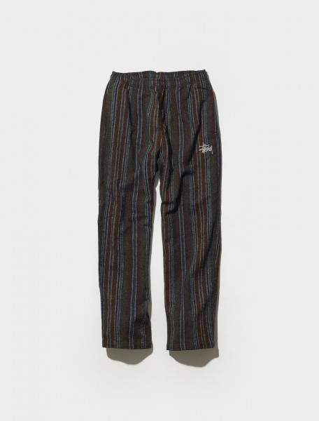 116510 0403 STÜSSY WOOL STRIPE RELAXED PANTS IN OLIVE
