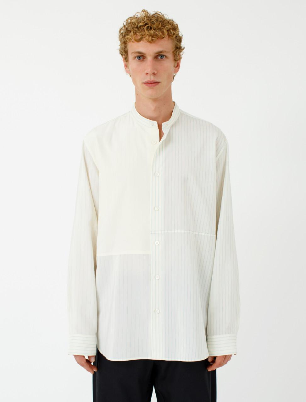 Silk Blend Shirt in Open White