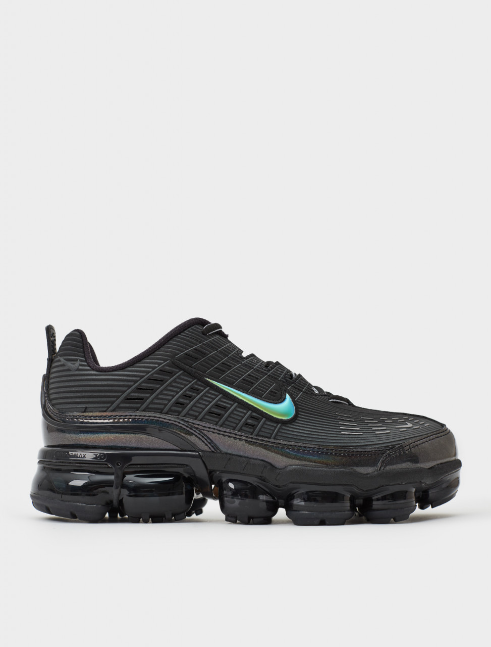 Side view of Nike Air VaporMax 360 Sneaker in Black Anthracite