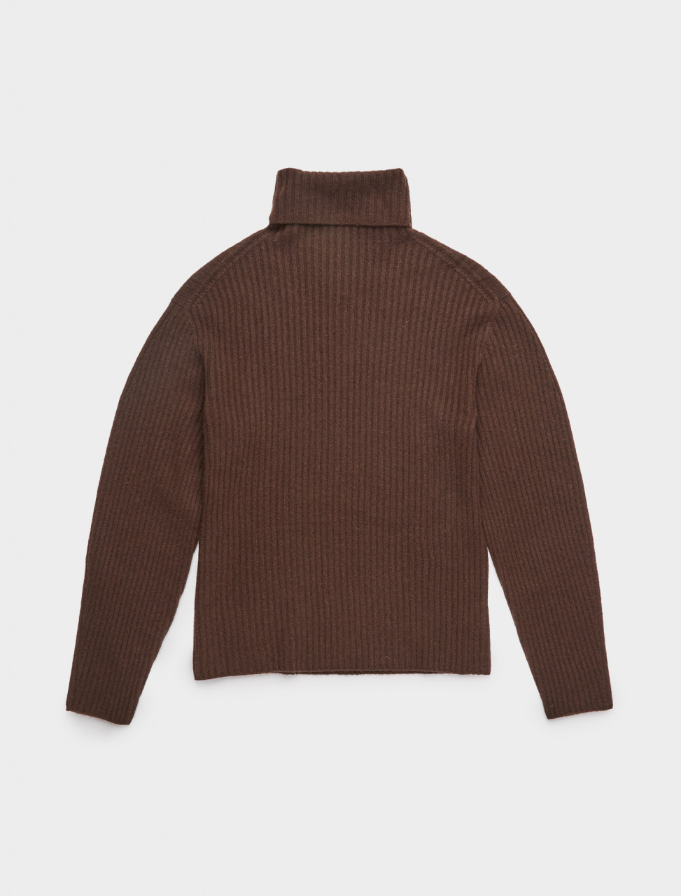 353-AM20FW01KN AMOMENTO WHOLE GARMENT RIB TURTLE NECK BROWN