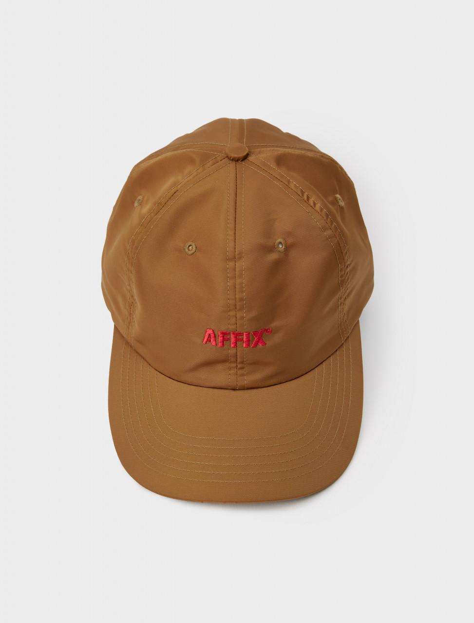 347-AW20ACC04-U AFFIX NYLON STANDARD LOGO CAP UMBER
