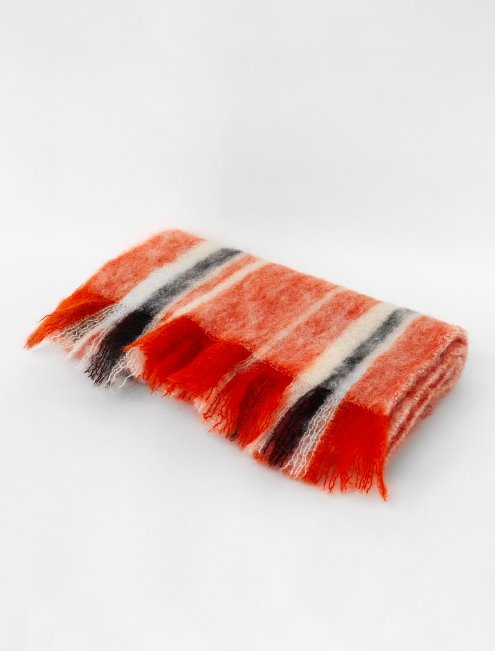 Multistripe Wool Mohair Scarf