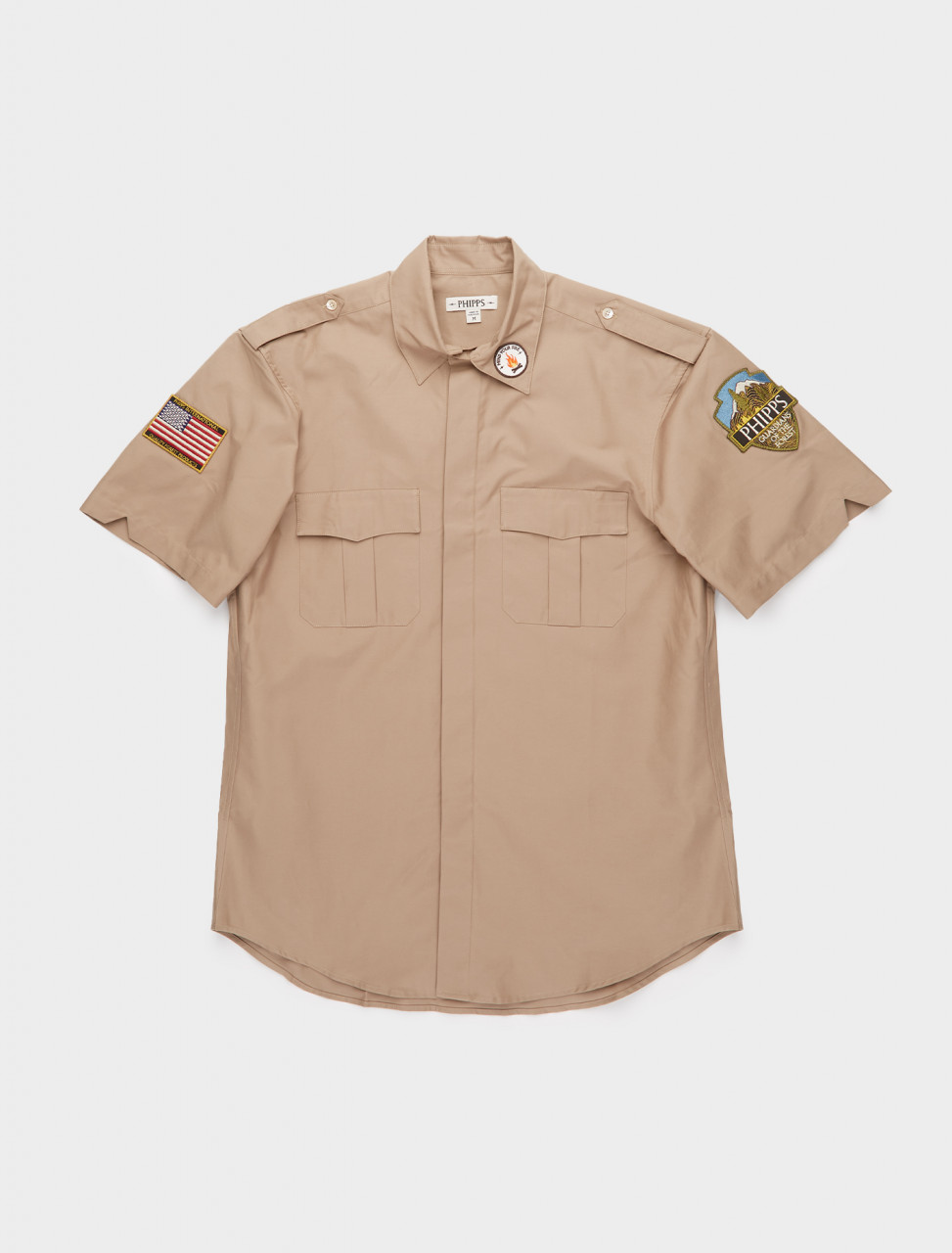 261-PHFW20-S09 PHIPPS SHORT SLEEVE FOREST GUARDIAN SHIRT RANGER TAN
