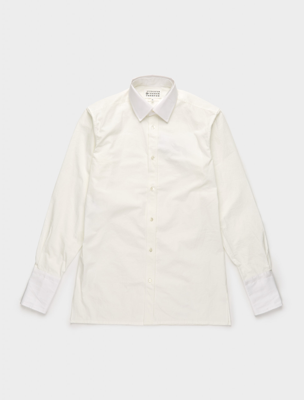 256-S30DL0482-S53212-101 MAISON MARGIELA COTTON SHIRT OFF WHITE