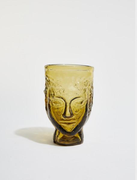 87DYELLOW LA SOUFFLERIE TETE GLASS IN YELLOW