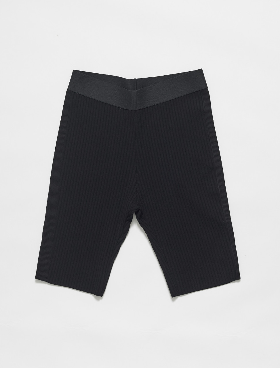 211-21202-2700-900 DRIES VAN NOTEN NADIM RIBBED BIKE SHORTS IN BLACK