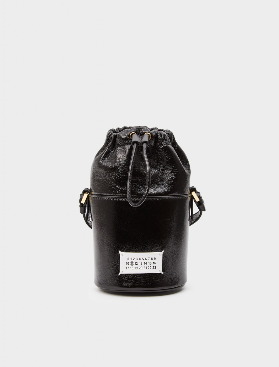256-S56WG0164-PS298-T8013 MAISON MARGIELA 5AC BUCKET BAG BLACK